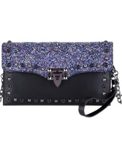 shiny sling fashion women bag