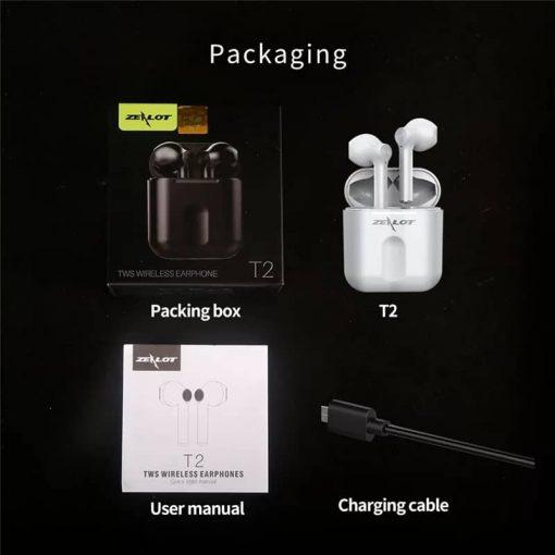 Zealot T2 Bluetooth Wireless Earbud