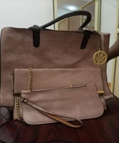 Brown flowry ladies bag